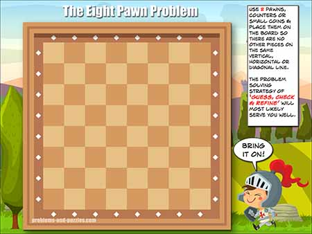 Classroom Problem Solving - Eight Pawn Puzzle